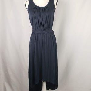 Ann Taylor Navy Hi-Low Sleeveless Maxi Dress